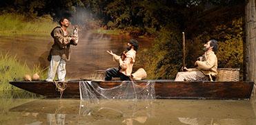 Os 3 Pescadores - Imagem em cera do Memorial da Devoção de Aparecida do Norte